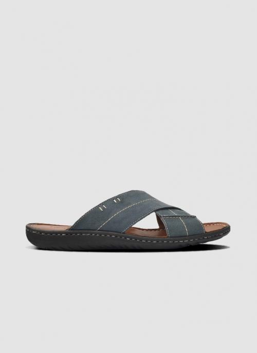 Language Shoes-Men-Gravity Sandal-Premium Leather-Navy Colour-Sandal