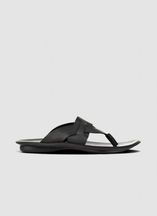 Language Shoes-Men-Maven Sandal-Premium Leather-Black Colour-Sandal