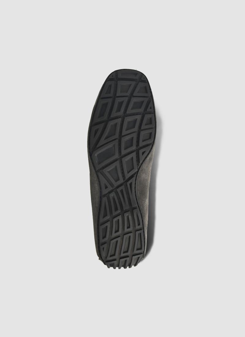 Language Shoes-Men-Arena Driver-Premium Leather-Grey Colour-Casual Shoe