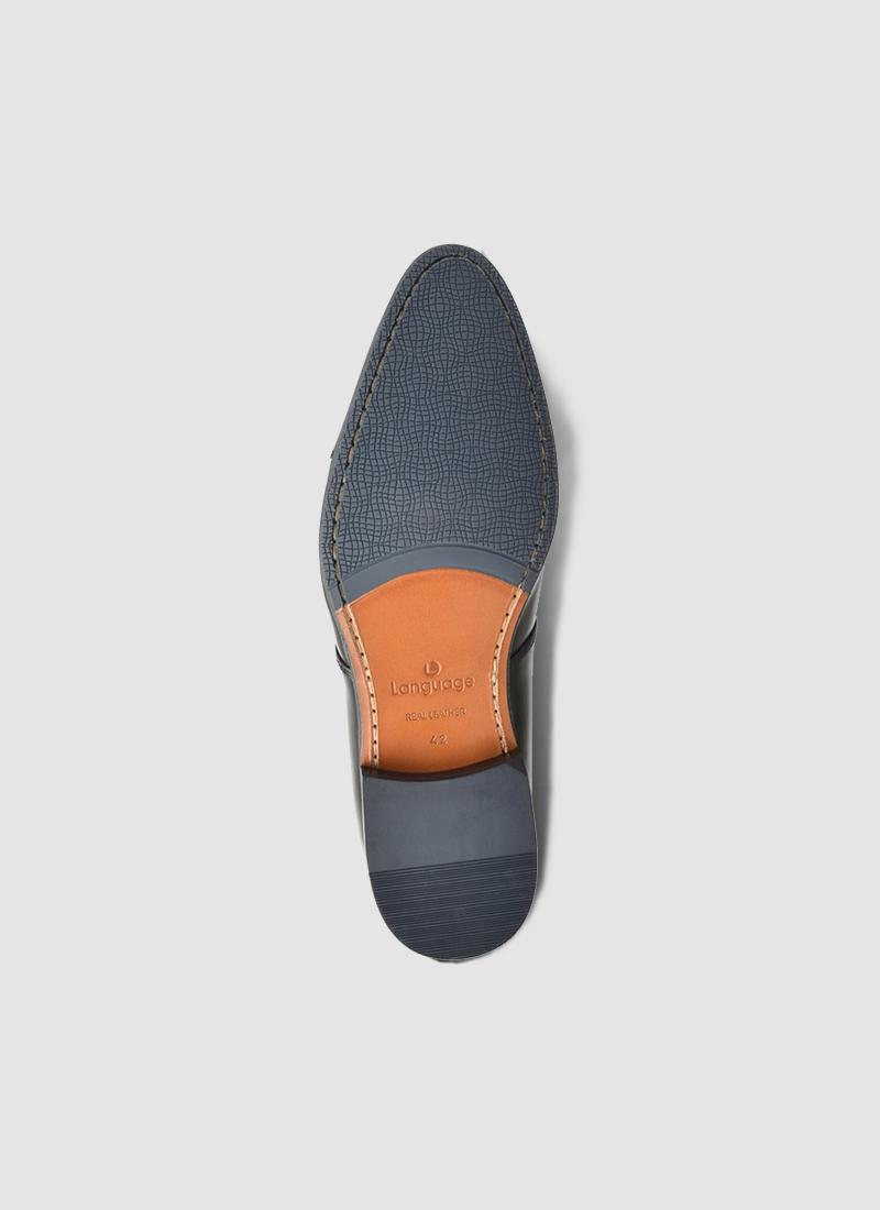 Language Shoes-Men-Joshua Derby-Premium Leather-Black Colour-Formal Shoe
