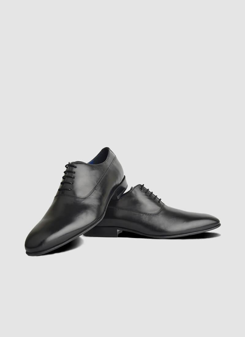 Language Shoes-Men-Scott Oxford-Premium Leather-Black Colour-Formal Shoe
