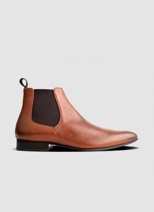 Language Shoes-Men-Nick Boot-Premium Leather-Tan Colour-Boot