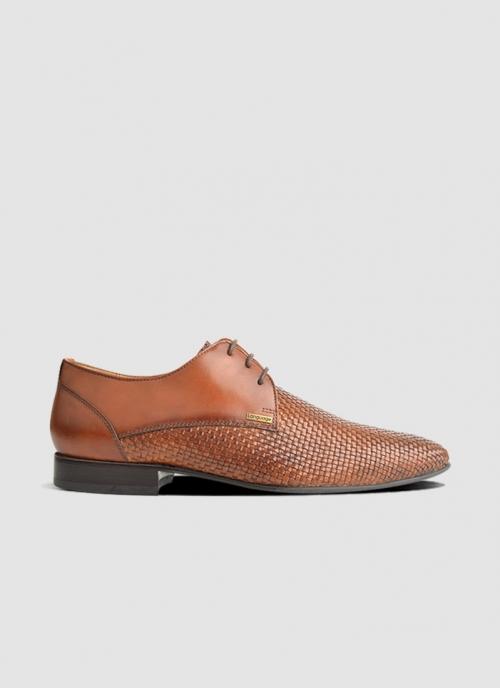 Language Shoes-Men-Vincent Derby-Premium Leather-Tan Colour-Formal Shoe