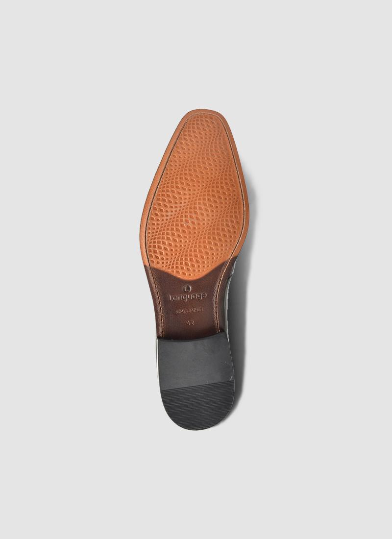 Language Shoes-Men-Negril Derby-Premium Leather-Black Colour-Formal Shoe