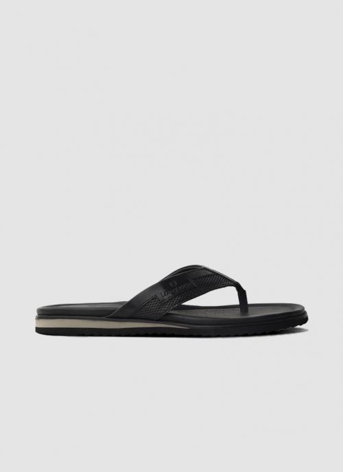 Language Shoes-Men-Goya Sandal-Premium Leather-Black Colour-Sandal