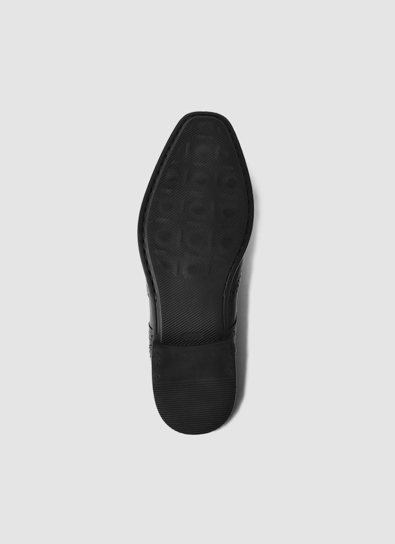Language Shoes-Men-Ash Derby-Premium Leather-Black Colour-Formal Shoe