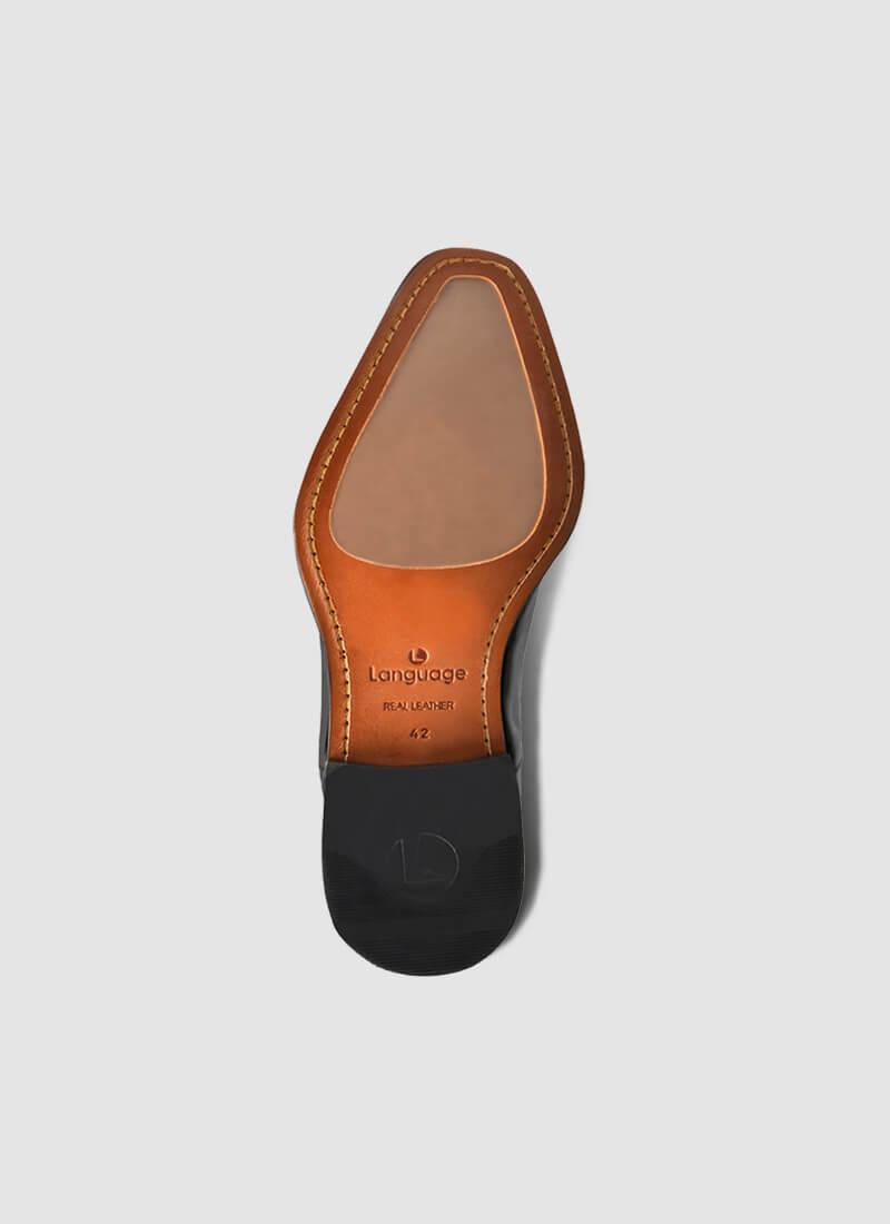 Language Shoes-Men-Oliver Oxford-Premium Leather-Black Colour-Formal Shoe