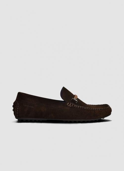 Language Shoes-Men-Alfred Driver-Premium Leather-Dark Brown Colour-Casual Shoe