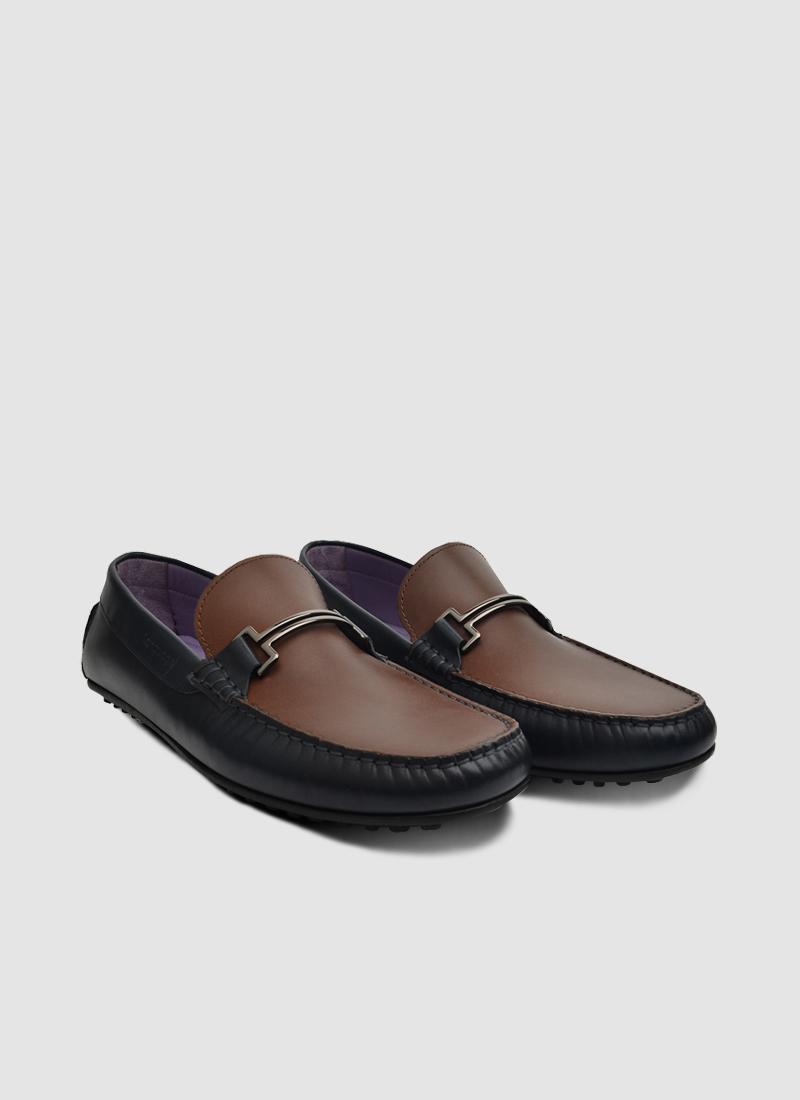 Language Shoes-Men-Code Driver-Premium Leather-Navy Colour-Casual Shoe