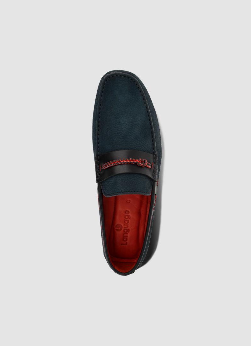 Language Shoes-Men-Chief Driver-Premium Leather-Navy Colour-Casual Shoe