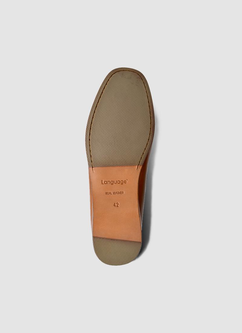Language Shoes-Men-Aust Moccasin-Premium Leather-Tan Colour-Formal Shoe