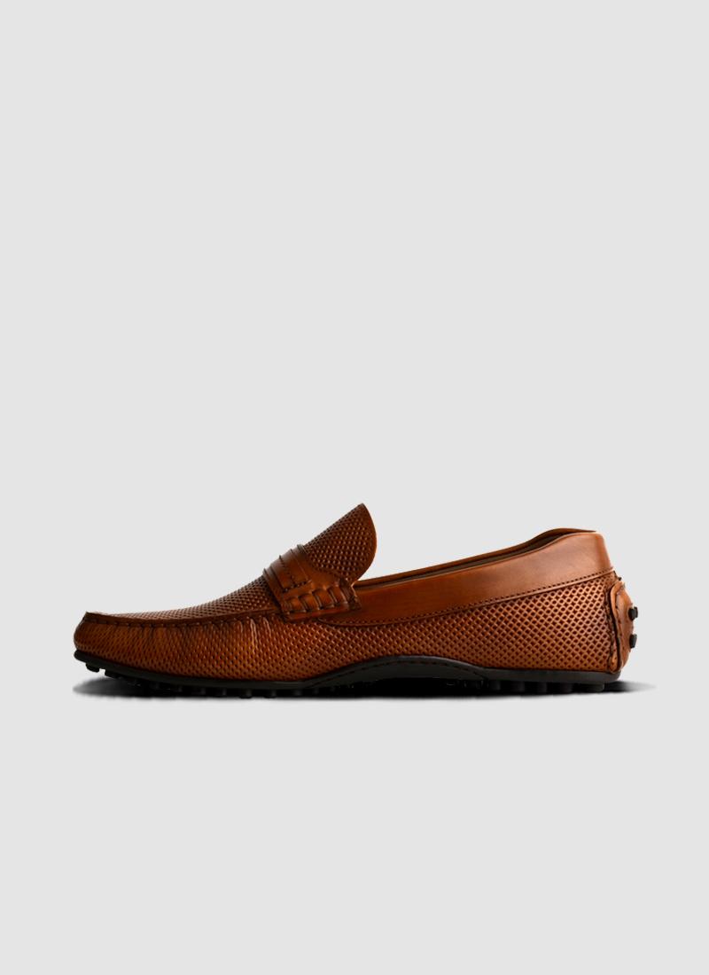 Language Shoes-Men-Knack Driver-Premium Leather-Brown Colour-Casual Shoe