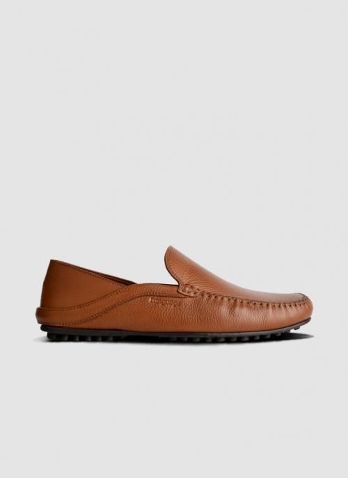 Language Shoes-Men-Rehat Driver-Premium Leather-Tan Colour-Casual Shoe