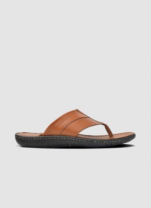 Language Shoes-Men-Zoe Sandal-Premium Leather-Tan Colour-Sandal
