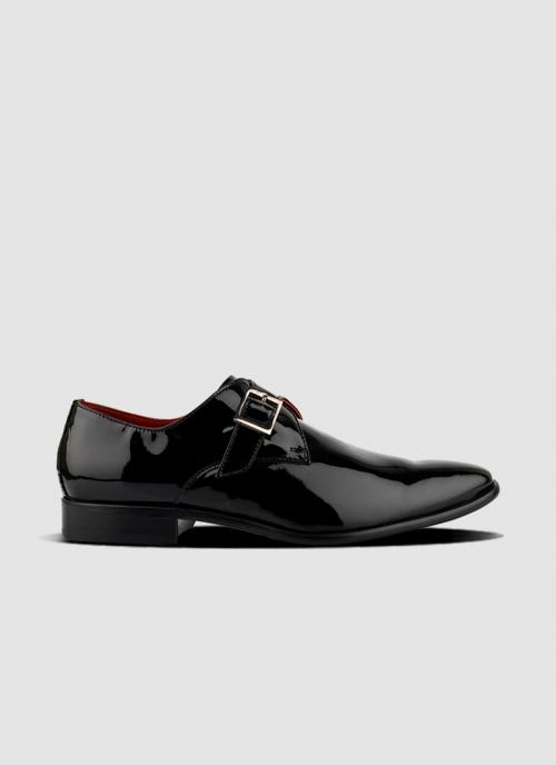 Language Shoes-Men-Ardent Monk-Premium Leather-Black Colour-Formal Shoe