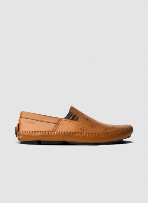 Language Shoes-Men-Drake Driver-Premium Leather-Tan Colour-Casual Shoe