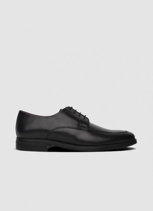 Language Shoes-Men-Jeremy Derby-Premium Leather-Black Colour-Formal Shoe
