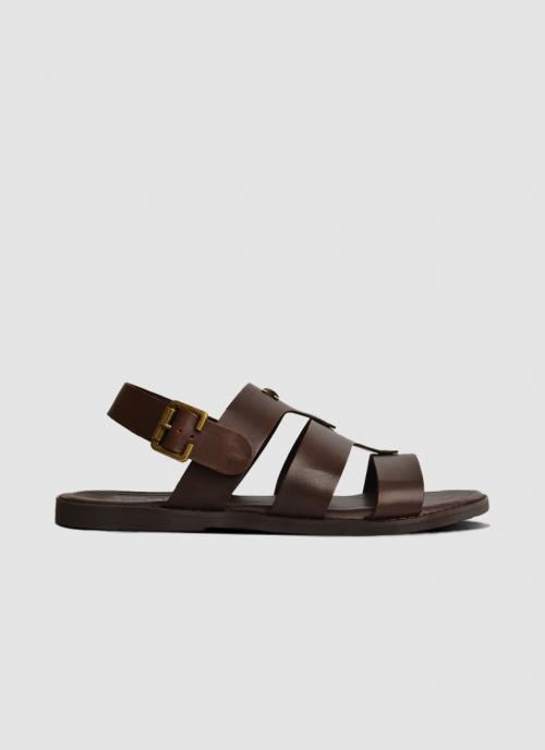 Language Shoes-Men-Ethan Sandal-Premium Leather-Brown Colour-Sandal