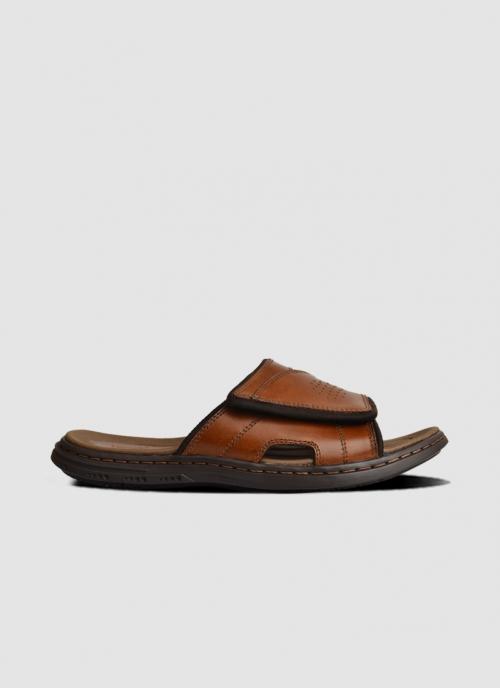 Language Shoes-Men-Jacob Sandal-Premium Leather-Tan Colour-Sandal