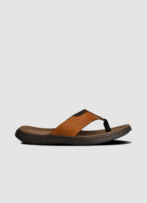 Language Shoes-Men-Zev Sandal-Premium Leather-Tan Colour-Sandal