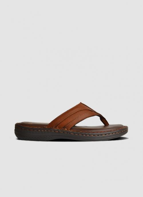 Language Shoes-Men-Zion Sandal-Premium Leather-Tan Colour-Sandal