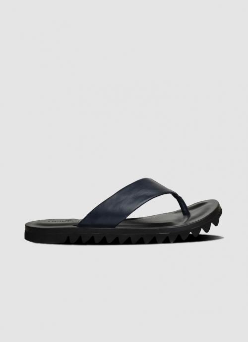 Language Shoes-Men-Noah Sandal-Premium Leather-Navy Colour-Sandal