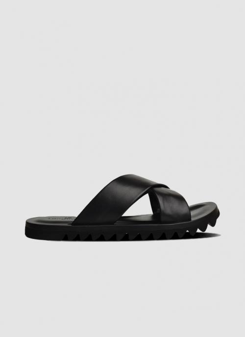 Language Shoes-Men-Ben Sandal-Premium Leather-Black Colour-Sandal