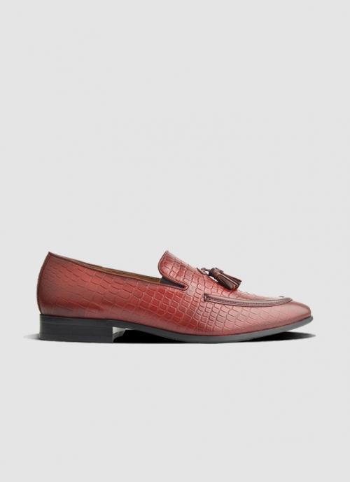 Language Shoes-Men-Palmer Loafer-Premium Leather-Wine Colour-Formal Shoe