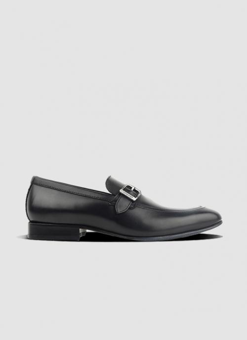 Language Shoes-Men-Kevin Loafer-Premium Leather-Black Colour-Formal Shoe