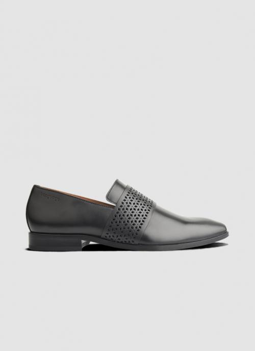 Language Shoes-Men-Hitan Loafer-Premium Leather-Black Colour-Formal Shoe