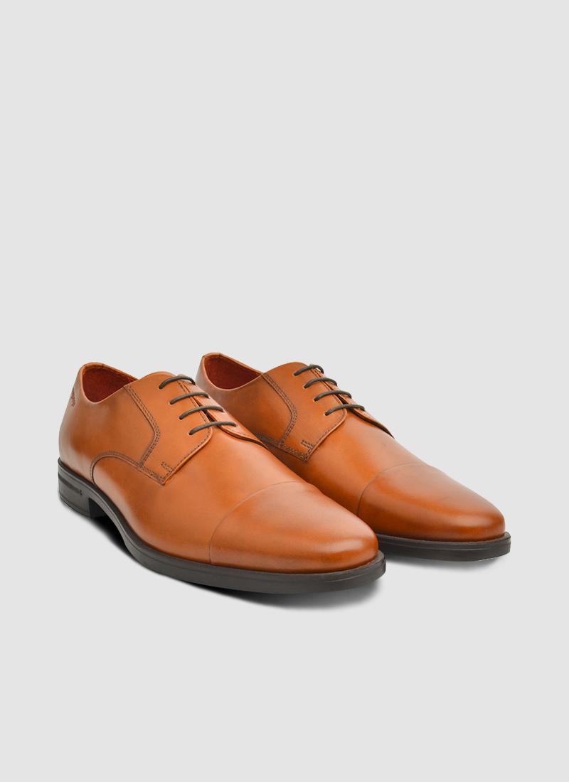 Language Shoes-Men-Rein Derby-Premium Leather-Tan Colour-Formal Shoe