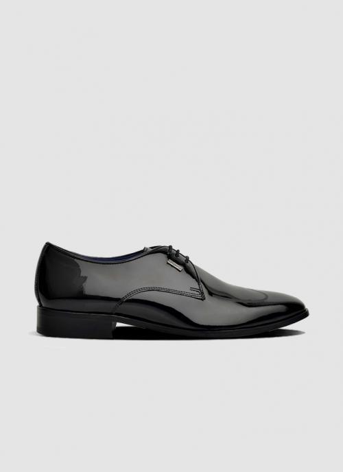 Language Shoes-Men-Zee Derby-Premium Leather-Black Colour-Formal Shoe