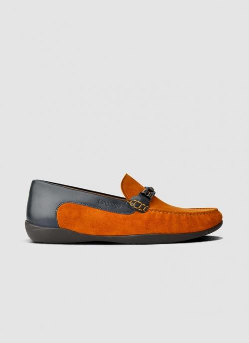 Language Shoes-Men-Watch Driver-Premium Leather-Tan Colour-Casual Shoe