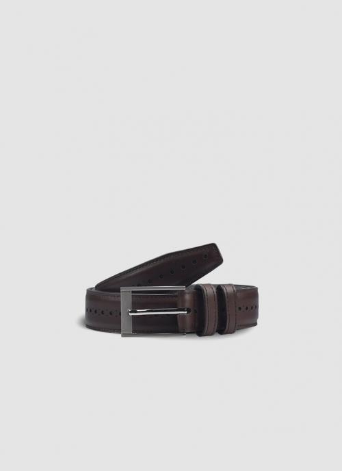 Language Shoes-Men-Gary Belt-Premium Leather-Brown Colour-Belt
