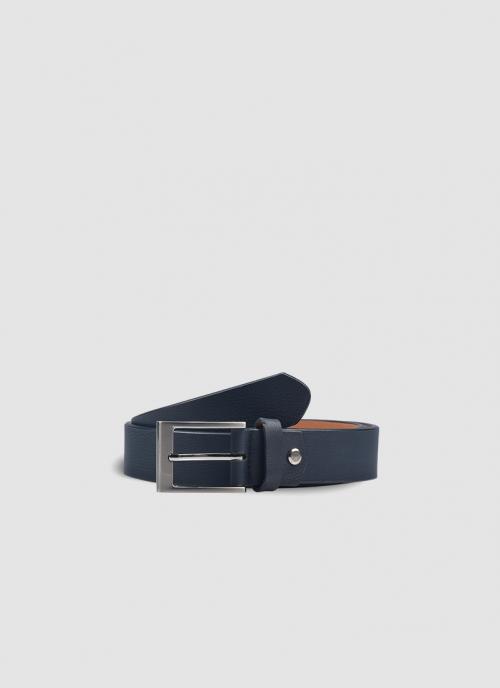 Language Shoes-Men-Troye Belt-Premium Leather-Navy Colour-Belt