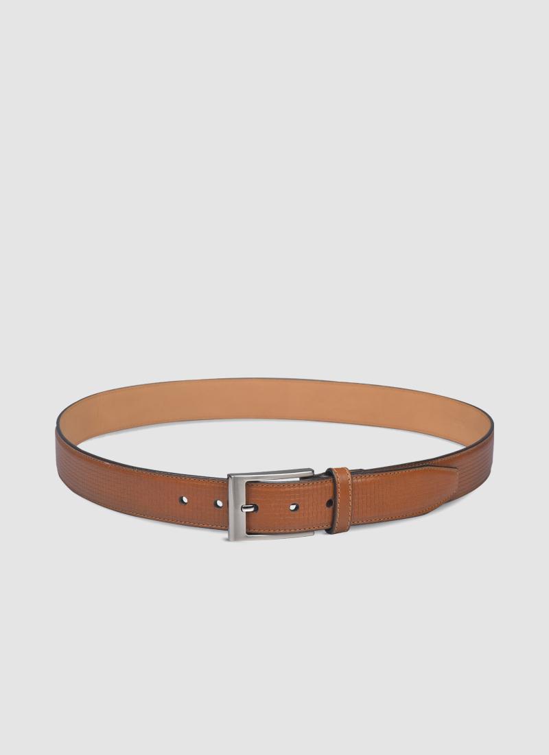 Language Shoes-Men-Brik Belt-Premium Leather-Tan Colour-Belt
