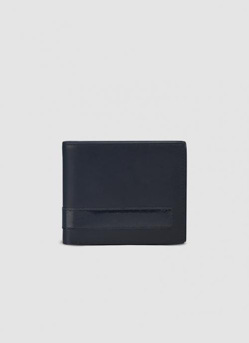 Language Shoes-Men-Jack Bi-fold Wallet-Premium Leather-Black Colour-Leather Accessories
