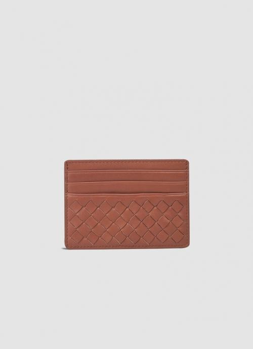 Language Shoes-Men-Matty Card Holder-Premium Leather-Tan Colour-Leather Accessories