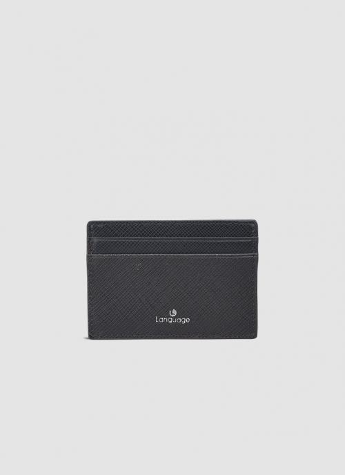 Language Shoes-Men-Baxtor Card Holder-Premium Leather-Dark Brown Colour-Leather Accessories
