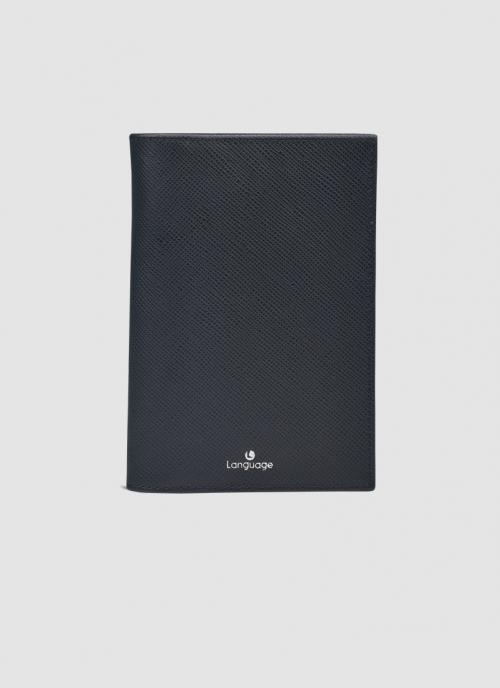 Language Shoes-Men-Moby Passport Holder-Premium Leather-Black Colour-Leather Accessories