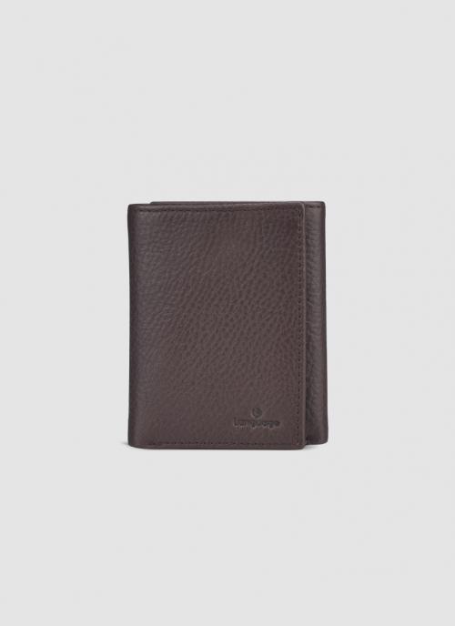 Language Shoes-Men-Albert Tri-fold Wallet-Premium Leather-Brown Colour-Leather Accessories