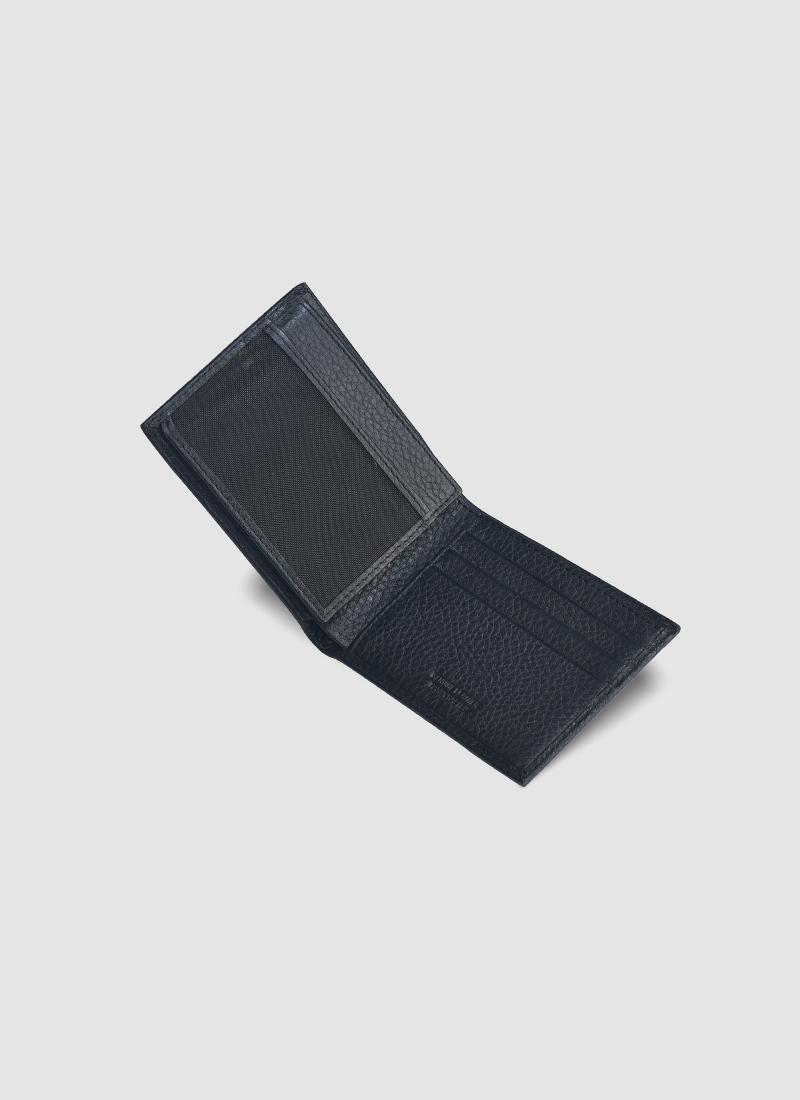 Language Shoes-Men-Thomas Bi-fold Wallet-Premium Leather-Black Colour-Leather Accessories
