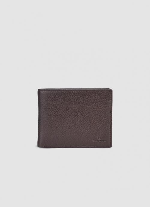Language Shoes-Men-Gordon Bi-fold Wallet-Premium Leather-Brown Colour-Leather Accessories