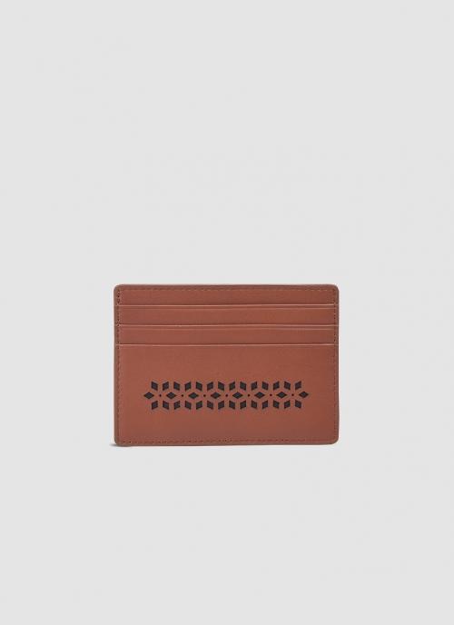 Language Shoes-Men-Wilson Card Holder-Premium Leather-Tan Colour-Leather Accessories
