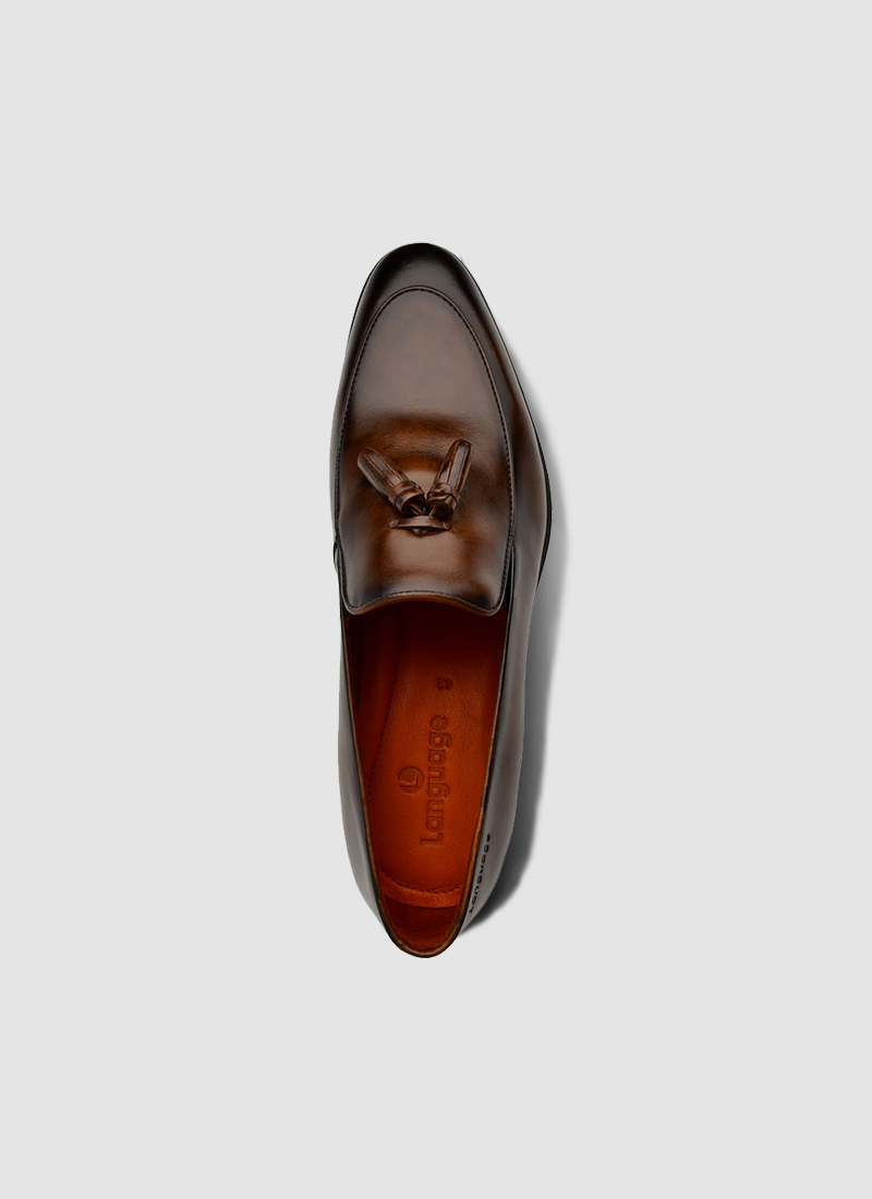 Language Shoes-Men-Chan Loafer-Premium Leather-Brown Colour-Formal Shoe