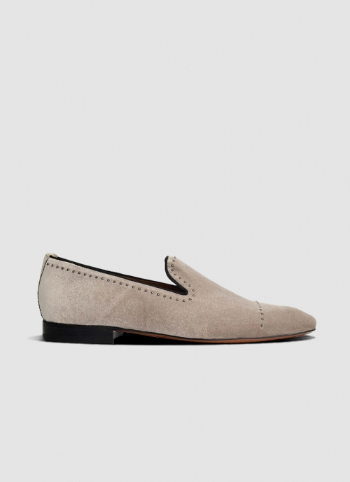 Language Shoes-Men-Jared Loafer-Fabric-Taupe Colour-Formal Shoe