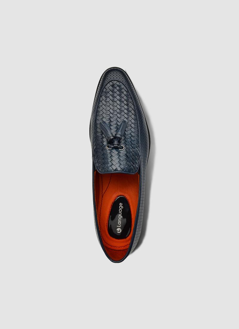 Language Shoes-Men-Larry Loafer-Premium Leather-Navy Colour-Formal Shoe