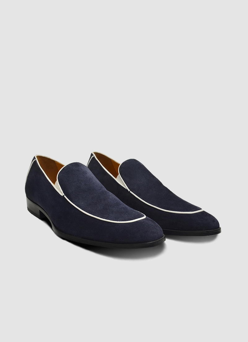 Language Shoes-Men-Adolf Loafer-Premium Leather-Navy Colour-Formal Shoe