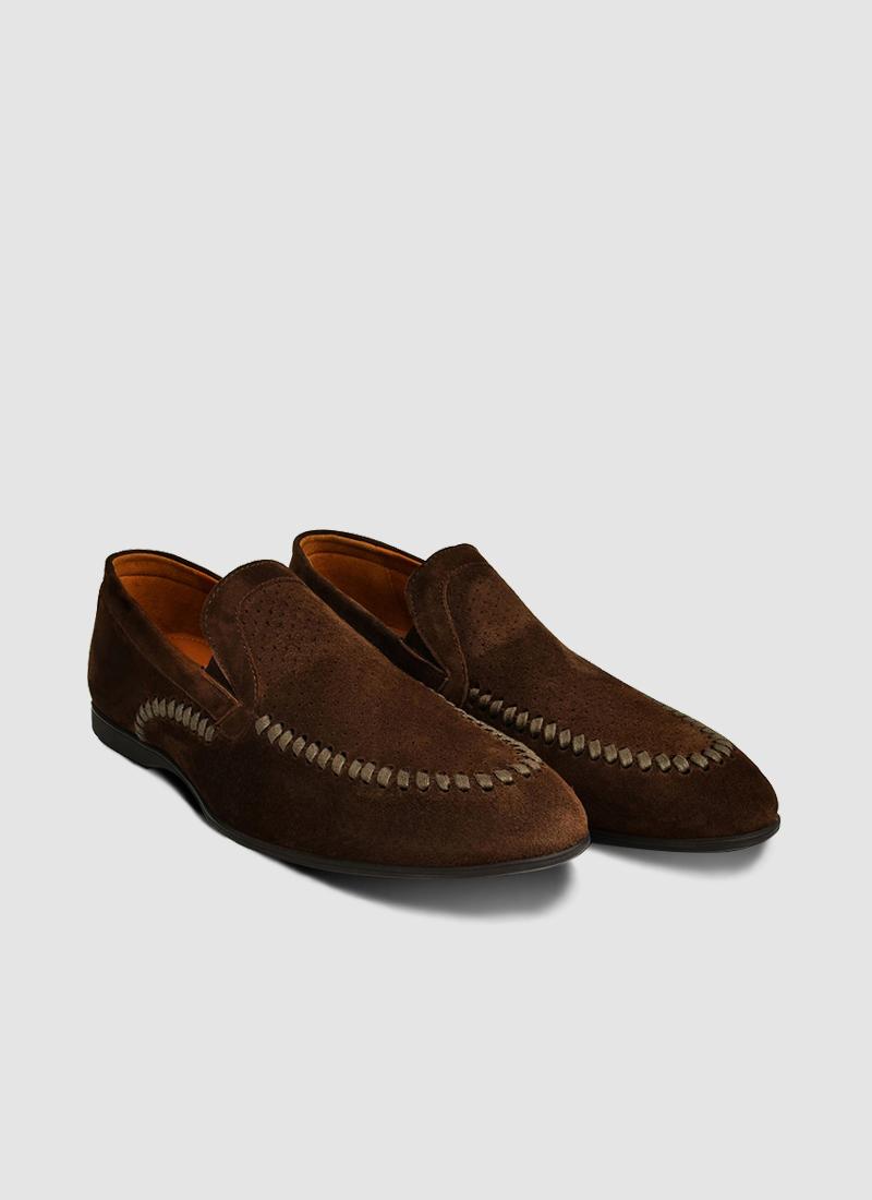 Language Shoes-Men-Albert Loafer-Premium Leather-Brown Colour-Formal Shoe