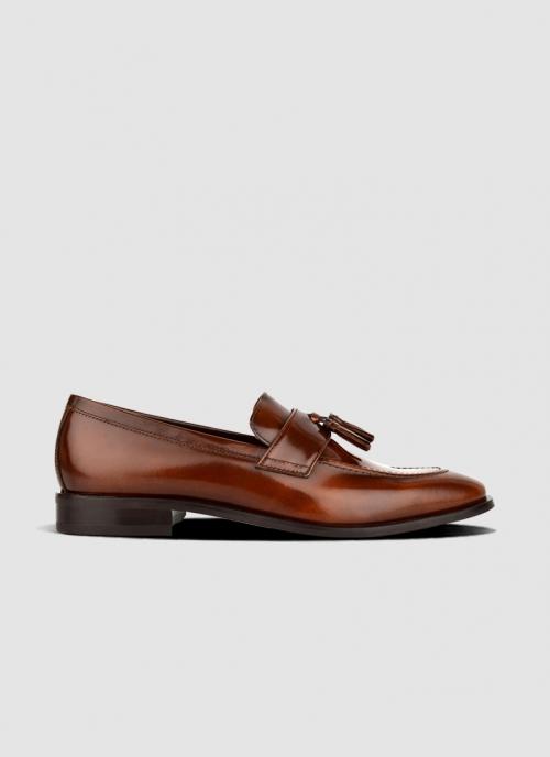 Language Shoes-Men-Dell Loafer-Premium Leather-Tan Colour-Formal Shoe